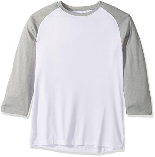 Hanes White Oxford (Hanes Men's Sport Performance Baseball Tee, White/Oxford Grey Heather, Medium)