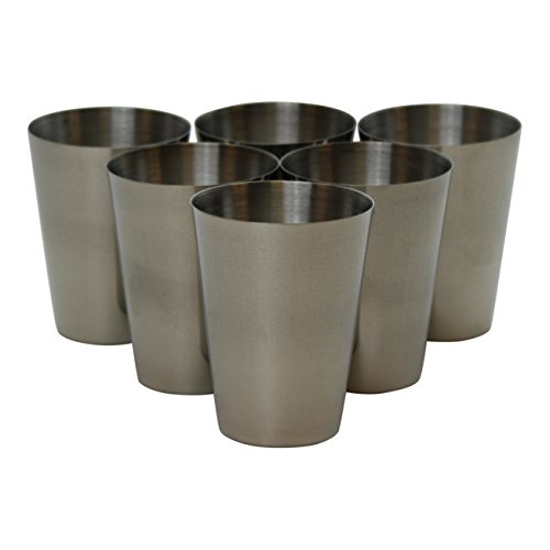 stainless steel shot glass 2 oz - 3