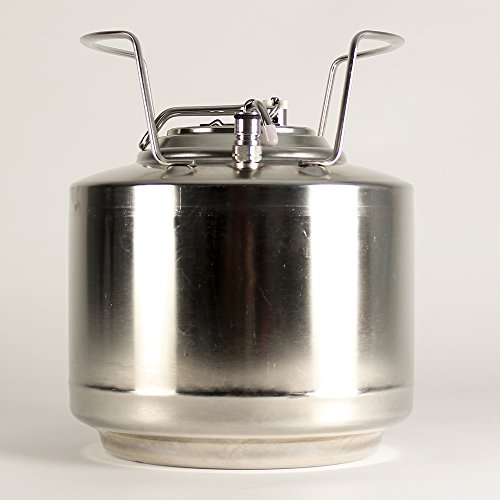 Draft Brewer Cannonball Stainless Steel 1.75 Gallon Mini Ball Lock Keg for Home Brew Beer by Draft Brewer