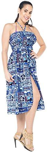 Playa Halloween días Encubrir Mujer Maxi t402 Vestido Vestido Fiesta túnica LEELA Ropa Costume baño Azul Falda Prom en Ligera LA Ocasionales Verano Bandeau Todo Likre Bikini la Noche z5PwqR