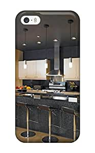Excellent Design Black Contemporary Kitchen With Counter Seating Case Cover For Iphone 5/5s