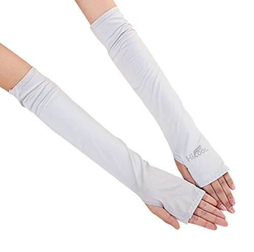 BabyPrice Unisex Ice Silk Arm Sleeves Sun UV Protection Arm Warmers Cooler Protector for Bike Hiking Outdoor