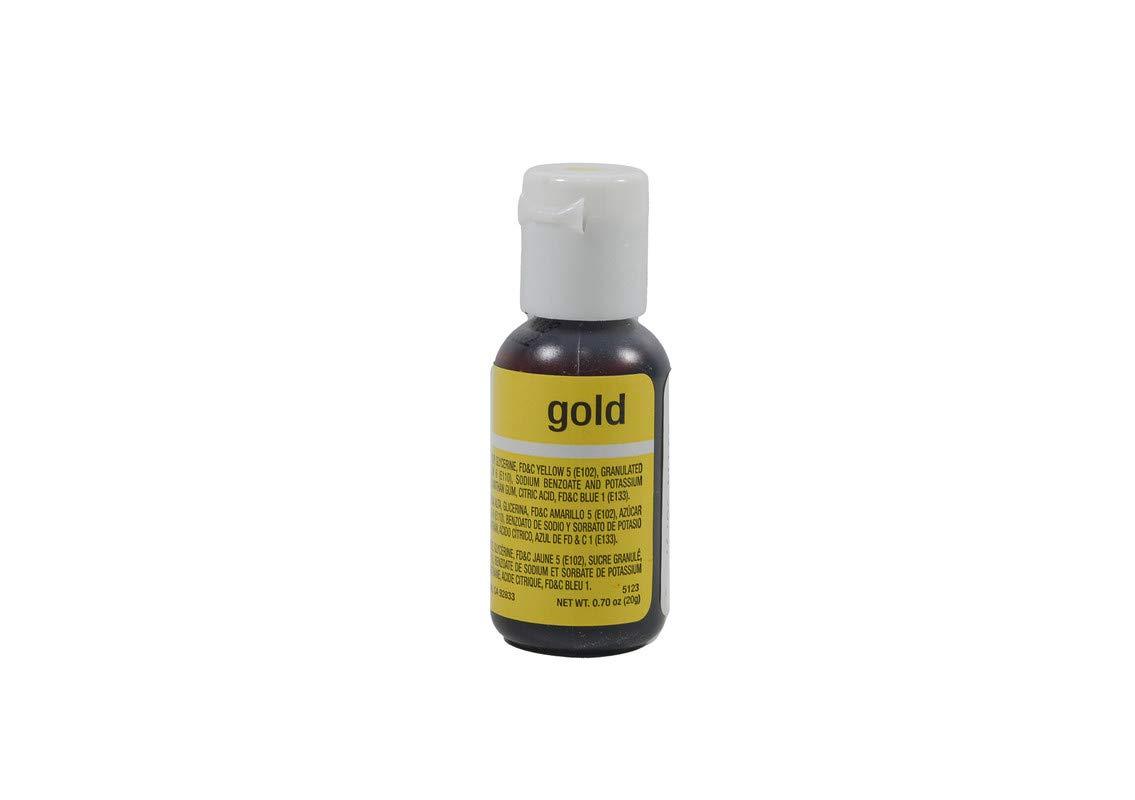 Chefmaster Liqua-Gel Food Color 0.70 Ounce - Gold