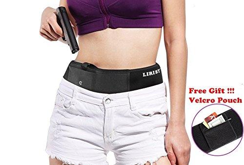 Lirisy Belly Band Holster for Concealed Carry | Neoprene Waist Band Handgun Carrying System | Elastic Hand Gun Holder For Pistols Revolvers | For Men and (2 Black Beretta Pistols)