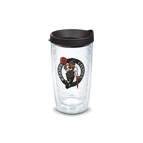 Tervis 1051579 NBA Boston Celtics Primary Logo Tumbler with Emblem and Black Lid 16oz, Clear by Tervis