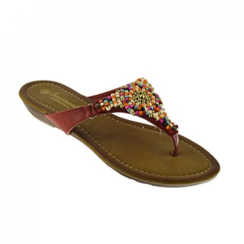 ... Kick Footwear Ladies Fashion Summer Sandals Rot