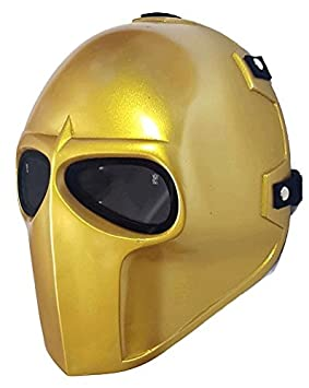 Airsoft full face mask dorado ejército de dos protección de la seguridad Paintball Cosplay Halloween Máscara
