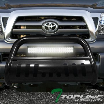 Amazon topline autopart black hd bull bar bumper grill guard topline autopart black hd bull bar bumper grill guard120w cree led fog light 05 aloadofball Image collections