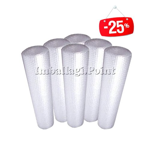 6 Rollen Luftpolsterfolie Luftblasen transparent 100 cmx10mt Verpackungen Angebot Pack Imballaggi.Point