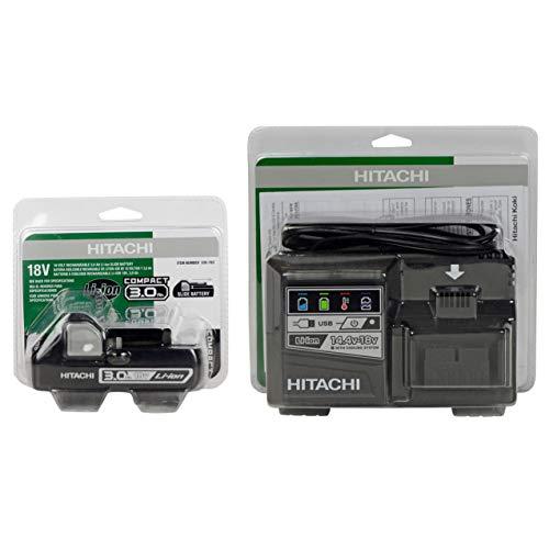 Hitachi UC18YSL3 18V Lithium Ion Battery Charger & (1) BSL1830C (#339782) 18V 3.0Ah Battery