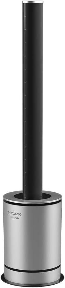 Cecotec Ventilador, Calefactor, Purificador Aire TotalPure 3 in 1 Vision. Potencia calefacción 2000W, Potencia ventilación 45 W, Función purificador Aire
