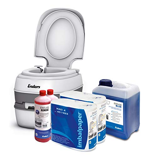 41yct1OV0jL Enders Campingtoilette Starter-Set Blue 5,0 Liter Comfort 4946 inkl. Sanitärflüssigkeit und WC Papier - Mobile…