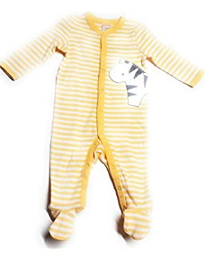 Baby Uni-Sex Yellow Striped Zebra Layette, 6-9 months