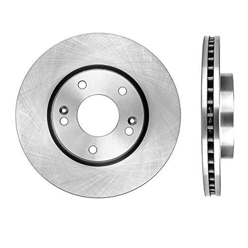 FRONT Premium Grade OE 279.7 mm [2] Rotors Set CBO200368 [for Hyundai Tiburon Tuscon Sonata Elantra Kia Sportage Optima] ()