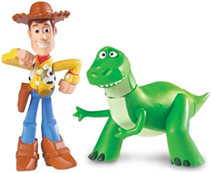 Disney Pixar Toy Story Buddy Twin Pack - Rex and Walking Woody ...