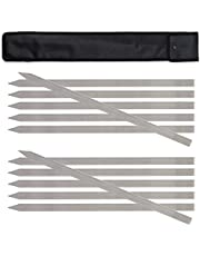 Sifu Kitchen Flat Koobideh Skewers, Premium Stainless Steel, Must Have for Persian, Iranian, Turkish & Brazilian Dishes, Perfect for Any Kabobs, 23 Inch Long & 1 Inch Wide