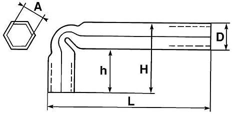 SAM Outillage 86-9 Cl/é tube coud/ée 9 mm