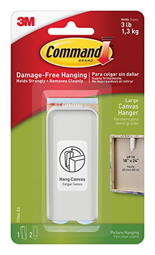 Command Picture Hanger - Command Canvas Hanger, Large, 1-Hanger (17044-ES)