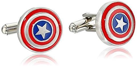 Marvel Comics Men's Stainless Steel Captain America Cuff (Black Widow Guanto)