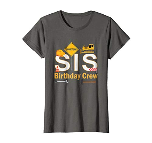 Sister Birthday Crew For Construction Birthday Party Shirt