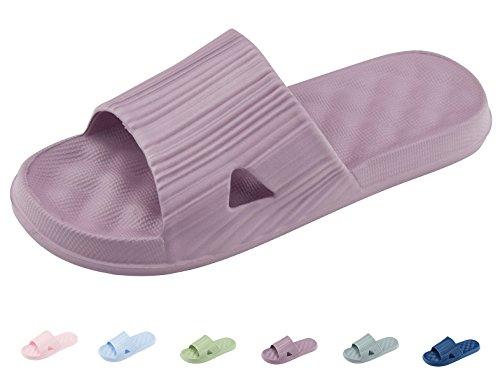Casuales Sandalias Violeta Hombres Aire Piso Zapatillas de Al Mujeres Para de y Zapatos de Libre casa o y Antideslizantes Unisex Ba WRcqn0vRwp