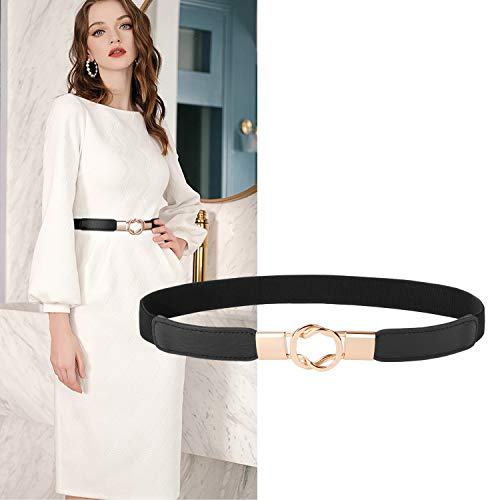 Used, XZQTIVE Women Retro Elastic Stretchy Metal Buckle Skinny for sale  Delivered anywhere in USA