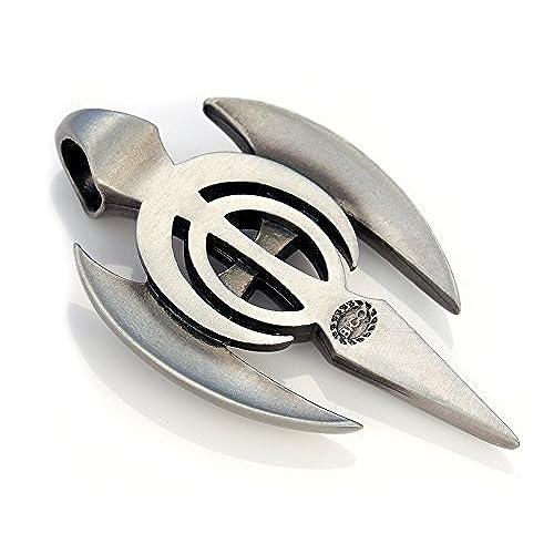 Bico Aariel Cross Pendant (BCR10) - fearlessness - Silver Finish Tribal Cross Jewelry