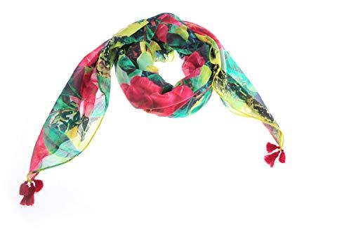 Aj15ca17 E Floreale Donna Armani Jeans Multicolor Logata Sciarpa IqOZxnzRw0