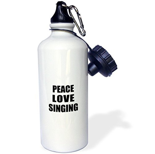 (Sports Water Bottle Gift for Kids Girl Boy, Peace Love And Singing Things That Make Me Happy Sing Singer Gift Stainless Steel Water Bottle for School Office Travel)