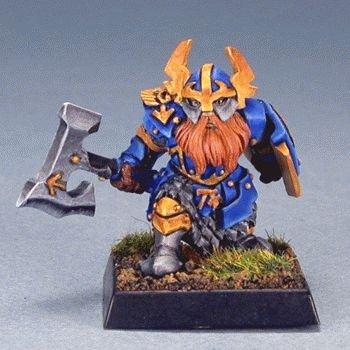 Reaper Gargram Dwarf Sergeant Miniature 25mm Heroic Scale Warlord Miniatures