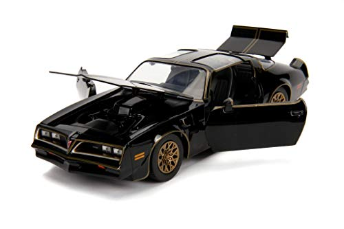 (1977 Pontiac Firebird Trans Am Black with Replica Buckle Smokey and The Bandit (1977) Movie Hollywood Rides 1/24 Diecast Model Car by Jada 30998)