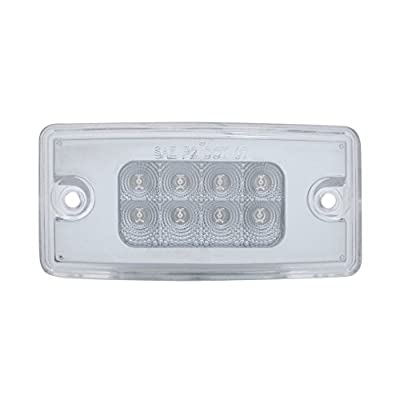 United Pacific 8 Led Freightliner Reflector Cab Light - Amber Led/Clear Lens: Automotive