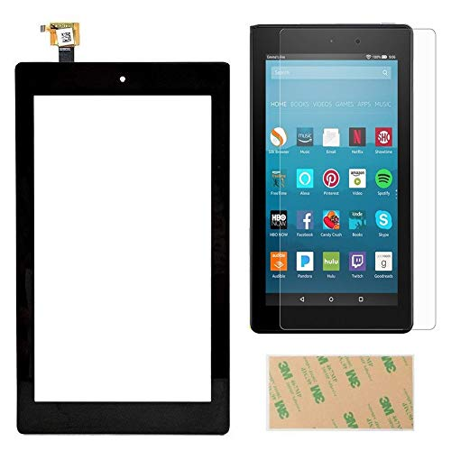 Touch Screen Digitizer Replacement Part for Fire 7 (7th Generation 2017 Release SR043KL) with Adhesive, NO LCD, NO Instructions(NOT for 5th Gen, 2015 & 7th kids edition - Gen Lcd Replacement Screen