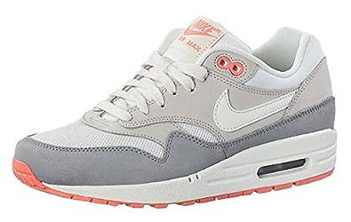 Nike Womens Air Max 1 599820100 Sail Grey Orange (UK 4.5