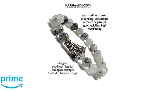 Amazon.com: Dragon Bracelet, Natural Tourrmaline Quartz ...