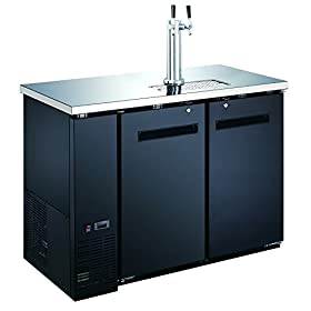 48″ 2-Door Commercial Beer Dispenser – Double Tap Keg Cooler – Kegerator UDD-24-48