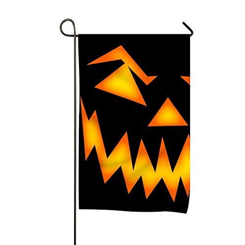 BaiGrid Scary Halloween Face Garden Flag Printed Double