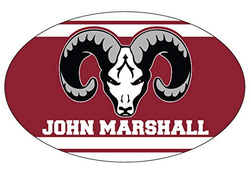 R and R Imports, Inc Marshall High School Rams San Antonio Texas Sports Team Oval Car Fridge Magnet -