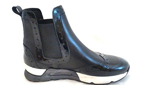 Zapatillas para Piel Nero JOYKS Mujer de Vernice Bv0xd60wq