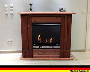 fireplace rafael mahogany brown use with bio ethanol and fire gel diy tools. Black Bedroom Furniture Sets. Home Design Ideas