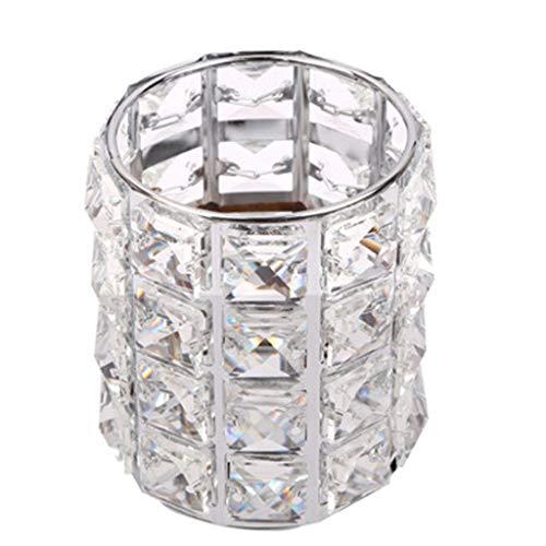 Startview Makeup Brush Storage Box Crystal Storage Tube Organizer For Manicure European Luxury Diamond Pen Holder (Silver)