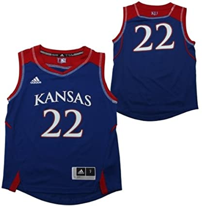new style f48e1 440d7 Amazon.com : adidas Kansas Jayhawks Youth Replica Basketball ...