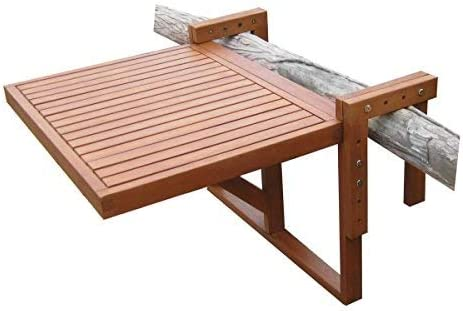 Spetebo Table Pliante En Eucalyptus Table De Balcon 60 X 45 Cm Bois Table Suspendue Pour Balcon Pliable