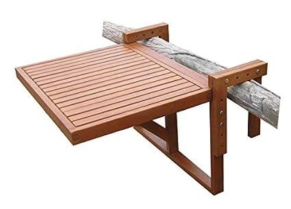 Balkon Klapptisch Für Geländer.Spetebo Eukalyptus Balkontisch 60x45 Cm Holz Klapptisch Balkon Hängetisch Klappbar