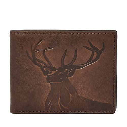 Relic by Fossil Men's Tanner Leather Traveler Bifold Wallet, Brown (Men Wallets Hunting)