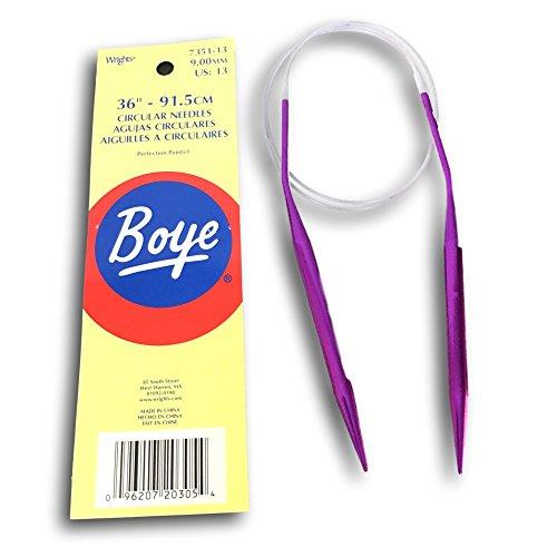 Circular Aluminum Knitting Needles 36 Inch - Size 13 ()