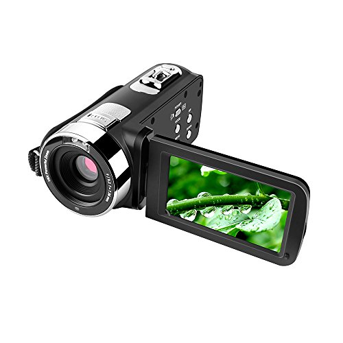 Cocare 301 FHD Touch Screen Digital Camera 1080P DV Camcorder 16X Zoom Video Recorder Night Vision Webcam Support 270°Rotation/SD Card,3''-Inch,Black