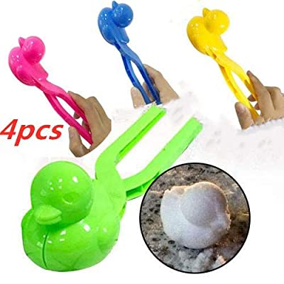 Aneil Snowball Maker Clip Set Duck Shape Snowball Maker Winter Snow Scoop Clip Sand Clay Mold Tool for Kids Toy,Mixedcolor: Toys & Games