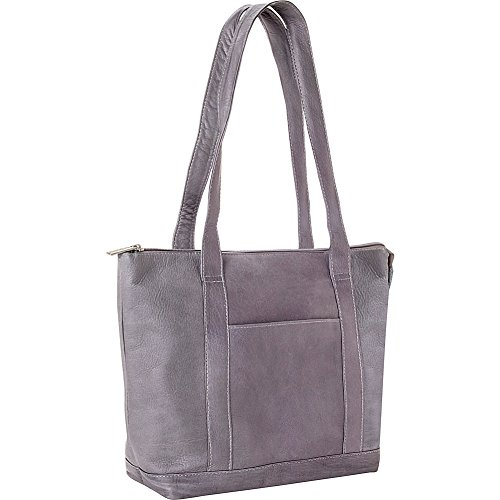 le-donne-leather-double-strap-pocket-tote-gray