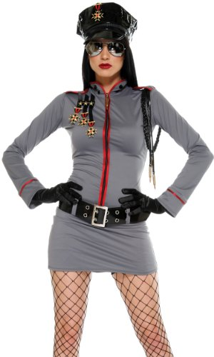 Forplay Women's General Glam Adult Sized Costumes, Grey, (Dictator Costume Women)